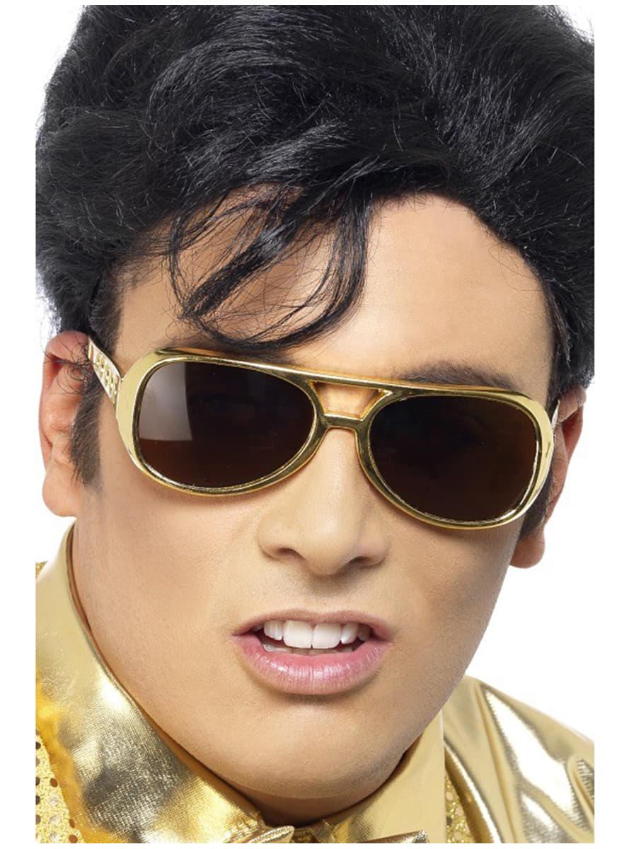 5f6820cfb1c Gold Elvis Sunglasses. The coolest