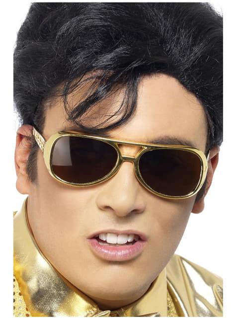 Lunettes de soleil d'Elvis dorées