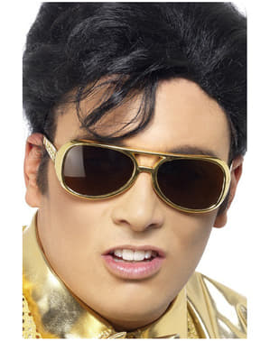 Gold Elvis Sunglasses