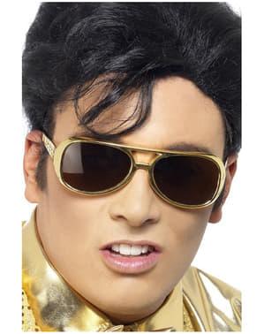 Óculos de sol de Elvis dourados
