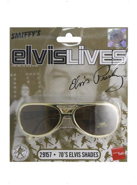 Okulary przeciwsłoneczne Elvis złote