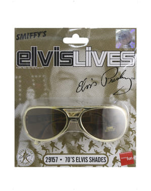 Ochelari de soare Elvis aurii