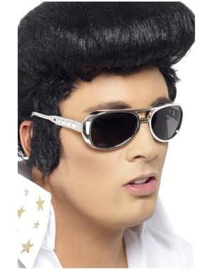 Óculos de sol de Elvis prateados