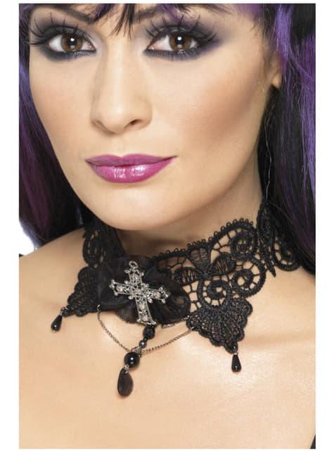 Gotický náhrdelník krajkový