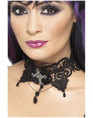 Kanten gothic halsband