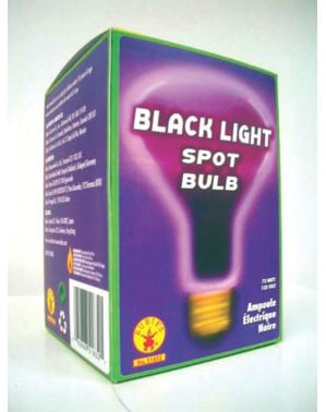 Llight bulb in black (75 watts)