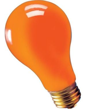 Lampadina arancione 75 watts