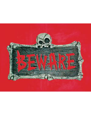 Beware muur bord