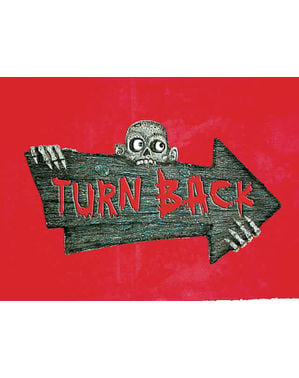 Turn Back Schild für die Wand