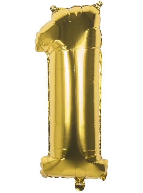 Globo número 1 dorado 86 cm