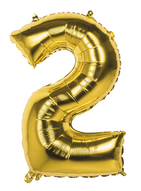 Number 2 gold balloon 86cm