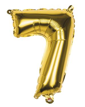 Balon numer 7 złoty 36 cm