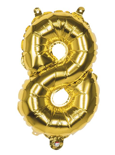 Zlatý balon 36 cm číslo 8
