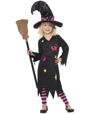 Svart Magisk Heks Kostyme Barn