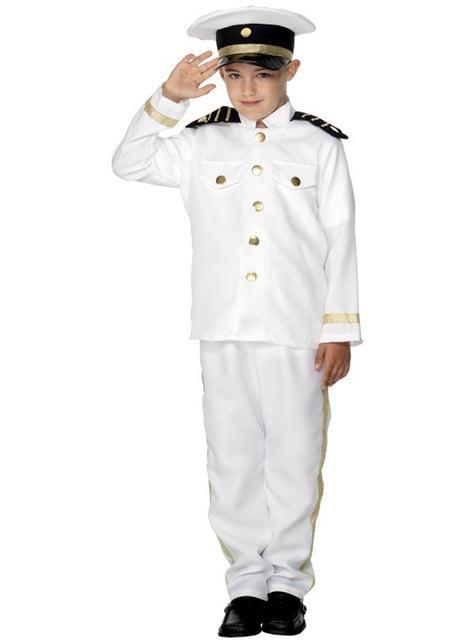 Strój kapitan marynarki dla chłopca