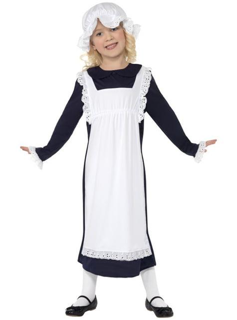 Costum de fată săracă victoriană pentru fată