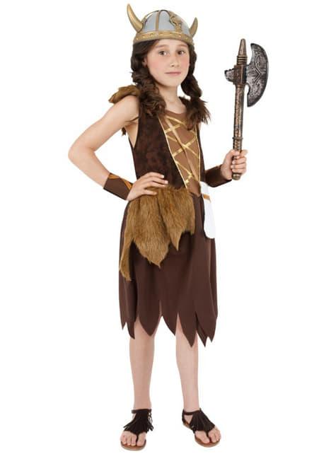 Viking Warrior Girl Kids Costume