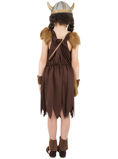 Disfraz de guerrera vikinga para niña - niña