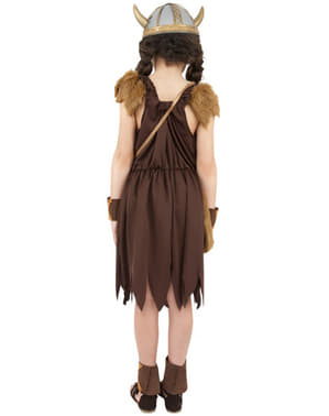Viking Warrior Girl Kids Costume