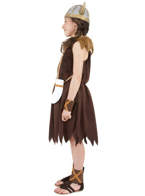 Strój wojowniczki viking dla dziewczynki