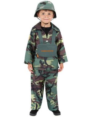 Fato de camuflagem do exército para menino