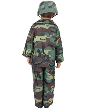 Disfraz de camuflaje del ejército para niño