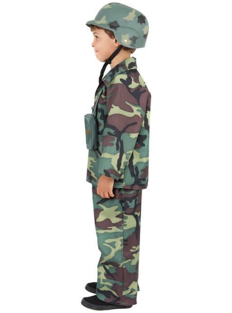 Disfraz de camuflaje del ejército para niño - original