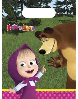 Sæt af 6 Masha og bjørnen poser