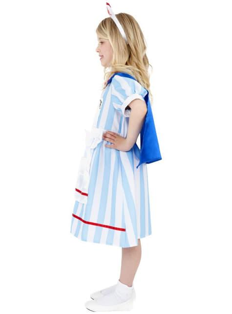 Fato de enfermeira vintage para menina