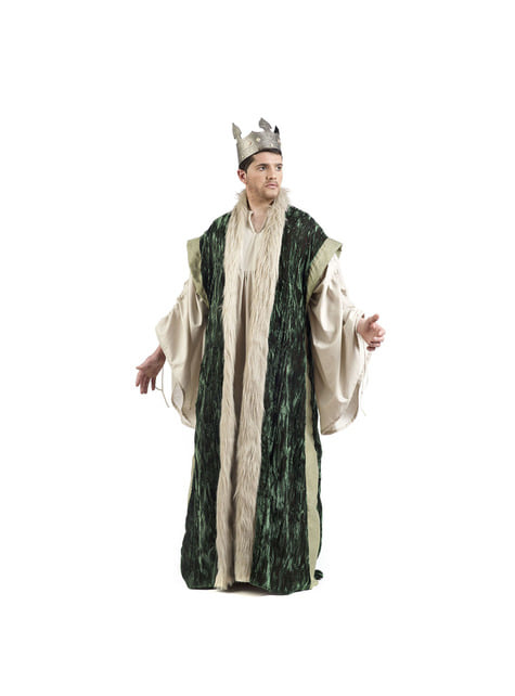 Capa de rei verde para homem