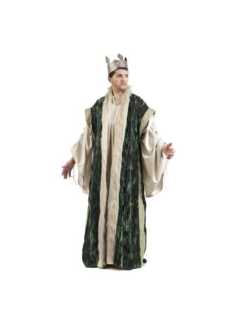 Capa de rey verde para hombre - para tu disfraz
