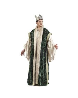 Capa de rey verde para hombre