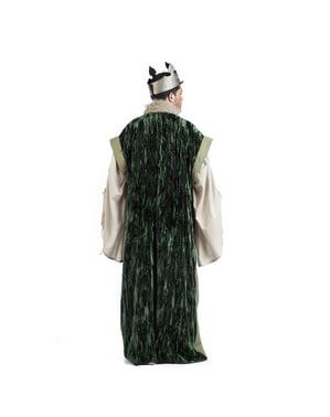 Grøn konge kappe til mænd