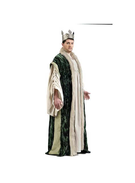 Capa de rey verde para hombre - original
