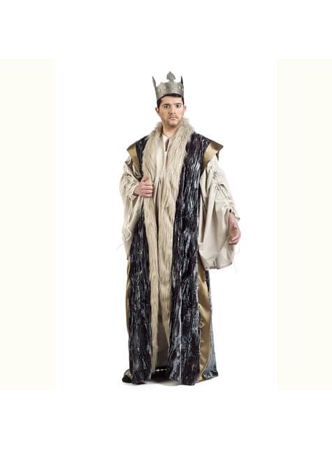 Capa de rey azul para hombre - para tu disfraz