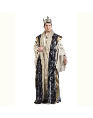 Capa de rey azul para hombre
