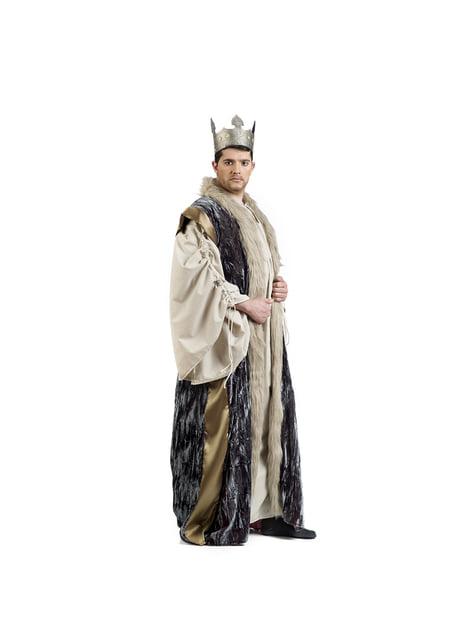 Capa de rei azul para homem