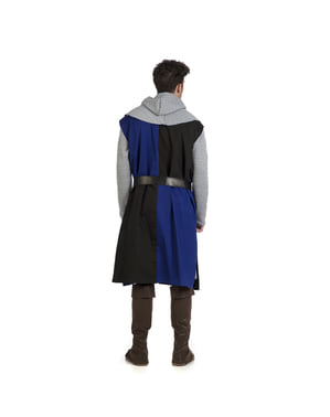 Blauwe middeleeuwse overjas voor mannen
