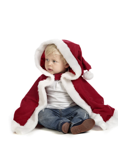 Capa de Papá Noel para bebé