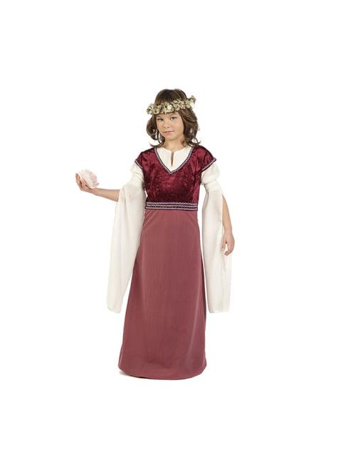 Medieval lady Rosalba costume for girls