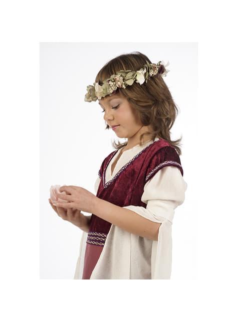 Disfraz de dama medieval Rosalba para niña
