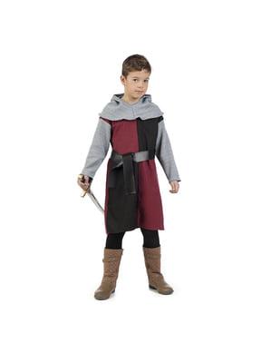 लड़कों के लिए मध्यकालीन नाइट हेनरी पोशाक
