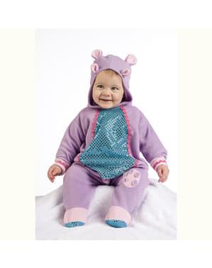 Bebekler için mor su aygırı kostümü