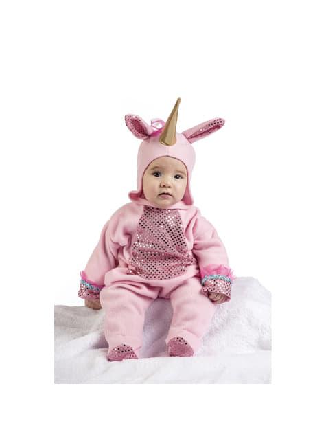 Ružičasti kostim sa šljokicama za bebe
