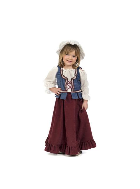 Disfraz de tabernera medieval para bebé