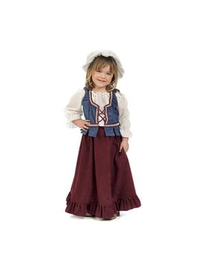 Mittelalterliches Wirtin Kostüm für Babys