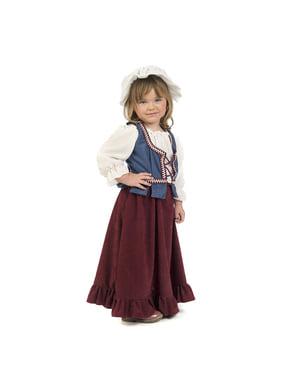 Costum de hangiță medievală pentru bebeluși