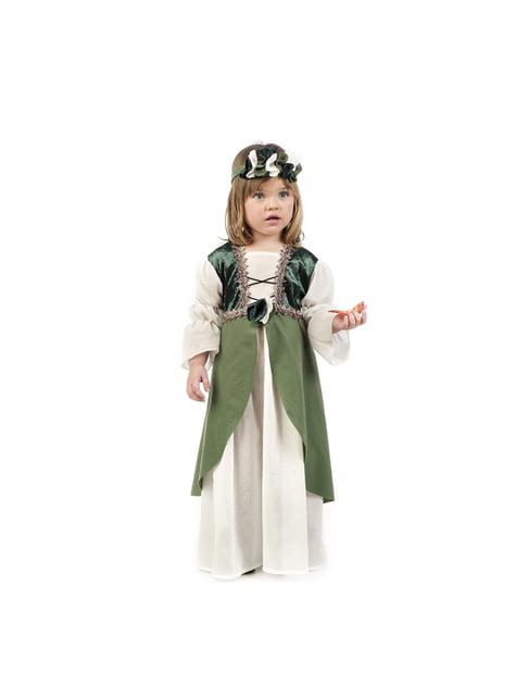 Fato de princesa medieval para bebé