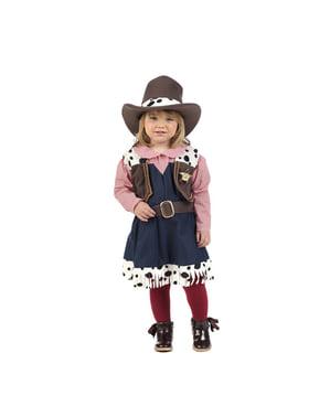 Disfraz de vaquera elegante para bebé