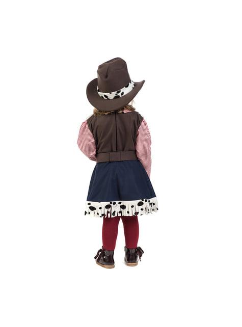 Bebekler için zarif cowgirl kostümü